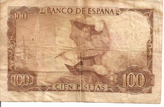 Banco De Espana  100 Pesetas  No Date Issue Dimensions: 200 X 100, Type: JPEG