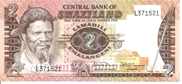 Central Bank of Swaziland  2 Emalangeni  No Date Issue Dimensions: 200 X 100, Type: JPEG