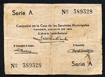 Servicios Municipales  .5 Francs  1941 Issue Dimensions: 200 X 100, Type: JPEG