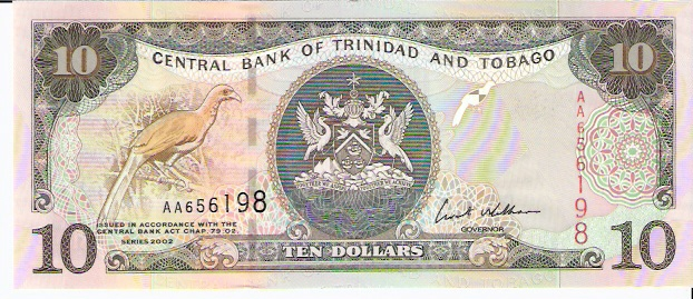 Central Bank of Trinidad & Tobago  10 Dollar  1964 Issue Dimensions: 200 X 100, Type: JPEG