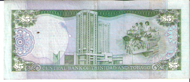 Central Bank of Trinidad & Tobago  5 Dollar  1977 ND Issue Dimensions: 200 X 100, Type: JPEG