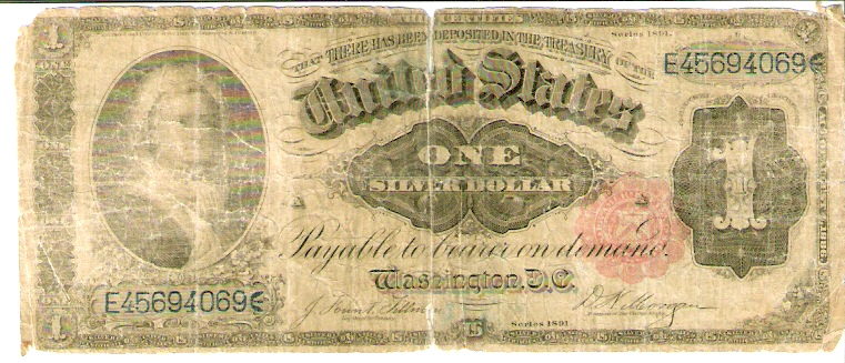United States of America  1 Silver Dollar  1891 Series  Special Currecny - Lady on the Bill Dimensions: 200 X 100, Type: JPEG