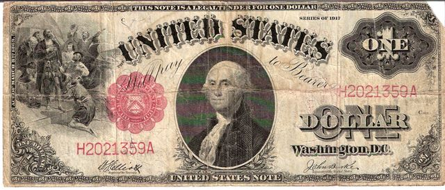 United States of America  1 Dollar  1917 Series  United States Note Dimensions: 200 X 100, Type: JPEG