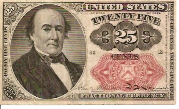 United States of America  Fractional Currency  25 Cents  1864 Issue Dimensions: 200 X 100, Type: JPEG