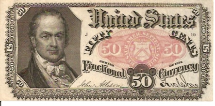 United States of America  Fractional Currency  50 Cents  1864 Issue Dimensions: 200 X 100, Type: JPEG