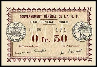Upper Senegal & Niger  50 Francs  Not Mine - Ron Wise Dimensions: 200 X 100, Type: JPEG
