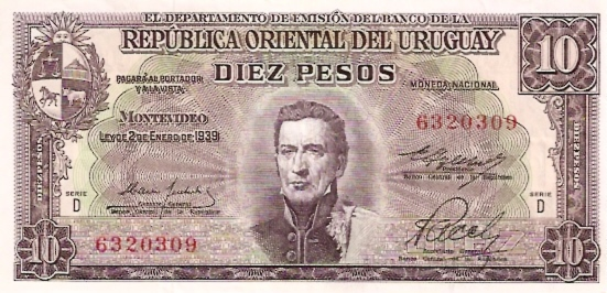 Banco Central DEL Uruguay  20 Peso  1978 - 1988 ND Issue Dimensions: 200 X 100, Type: JPEG