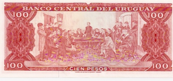 Banco Central DEL Uruguay  100 Peso  1967 ND Issue Dimensions: 200 X 100, Type: JPEG