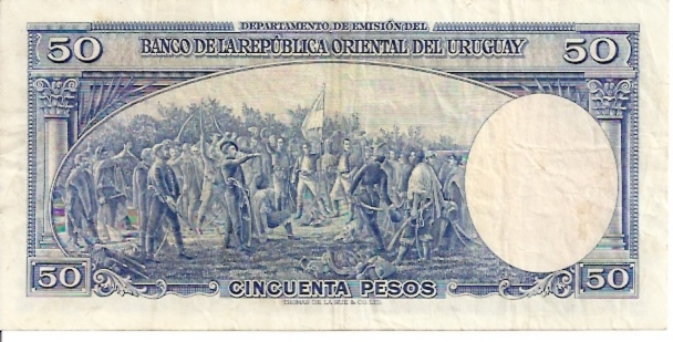 Banco Central DEL Uruguay  50 Peso  1978 - 1988 ND Issue Dimensions: 200 X 100, Type: JPEG