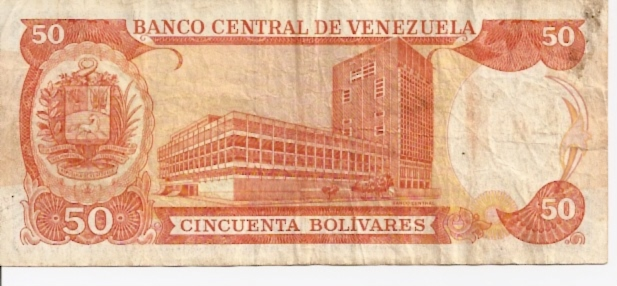 Banco Central DE Venezuela  50 Bolivares  1963-1967 Issue Dimensions: 200 X 100, Type: JPEG