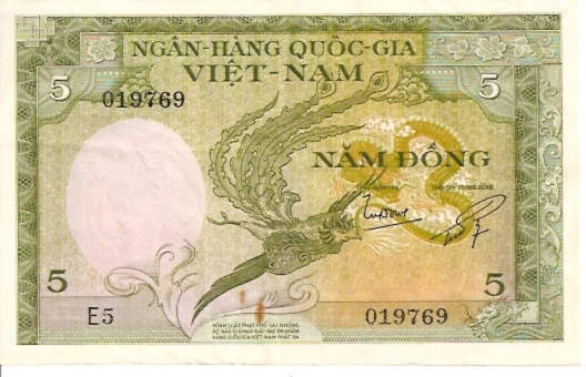 State Bank of Viet Nam  5 Dong  1964 ND Issue Dimensions: 200 X 100, Type: JPEG