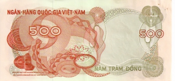 National Bank of Viet Nam  500 Dong  1969 Issue Dimensions: 200 X 100, Type: JPEG