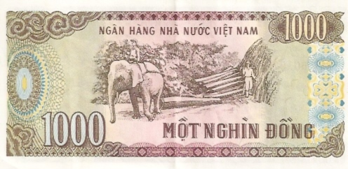 State Bank of Viet Nam  1000 Dong  1964 ND Issue Dimensions: 200 X 100, Type: JPEG