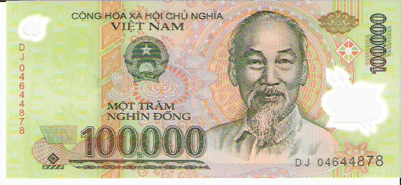 State Bank of Viet Nam  100000 Dong  1994 ND Issue Dimensions: 200 X 100, Type: JPEG