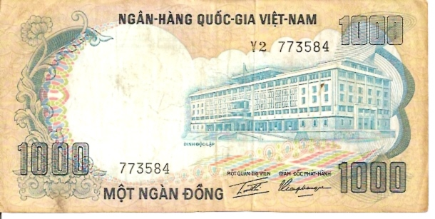 State Bank of Viet Nam  1000 Dong  1974 ND Issue Dimensions: 200 X 100, Type: JPEG