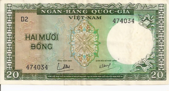 State Bank of Viet Nam  20 Dong  1964 ND Issue Dimensions: 200 X 100, Type: JPEG