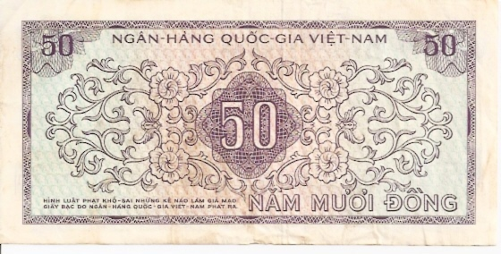 State Bank of Viet Nam  50 Dong  1964 ND Issue Dimensions: 200 X 100, Type: JPEG