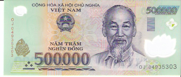 State Bank of Viet Nam  500000 Dong  1994 ND Issue Dimensions: 200 X 100, Type: JPEG