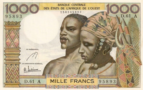 Banque Centrale  1000 Francs  A-Ivory Coast Dimensions: 200 X 100, Type: JPEG