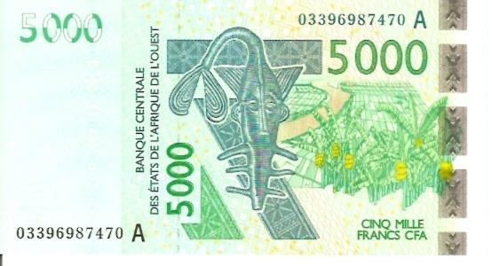 Banque Centrale  500 Francs  2003 Series  A-Ivory Coast Dimensions: 200 X 100, Type: JPEG