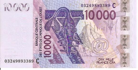 Banque Centrale  10000 Francs  2003 Series Dimensions: 200 X 100, Type: JPEG