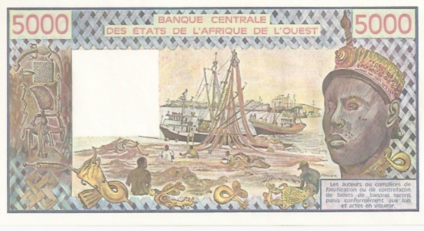 Banque Centrale  5000 Francs  West African States. C -Burikna Faso Dimensions: 200 X 100, Type: JPEG