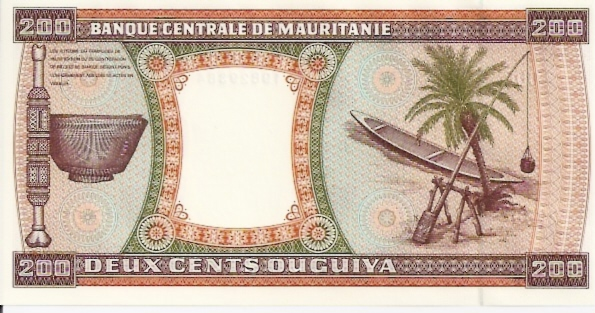 Banque Centrale  200 Ouguiya   West African States. E - Mauritinia Dimensions: 200 X 100, Type: JPEG