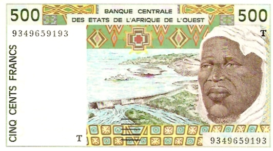 Banque Centrale  500 Francs  West African States. T - Togo Dimensions: 200 X 100, Type: JPEG