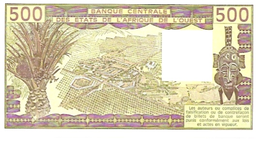 Banque Centrale  500 Francs  West African States. H - Niger  Dimensions: 200 X 100, Type: JPEG