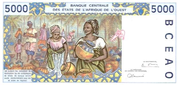 Banque Central  5000 Francs  K-Senegal Dimensions: 200 X 100, Type: JPEG
