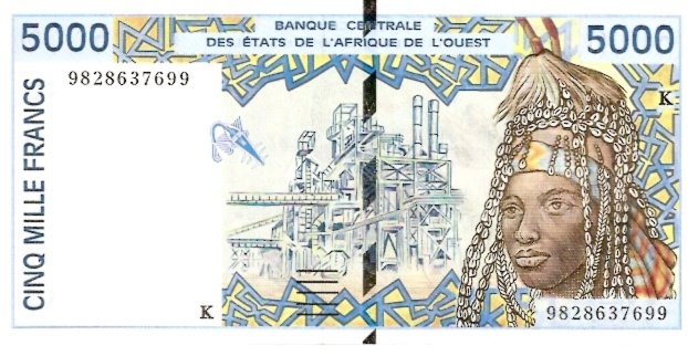 Banque Central  5000 Francs  K-Senegal Dimensions: 200 X 100, Type: JPEG