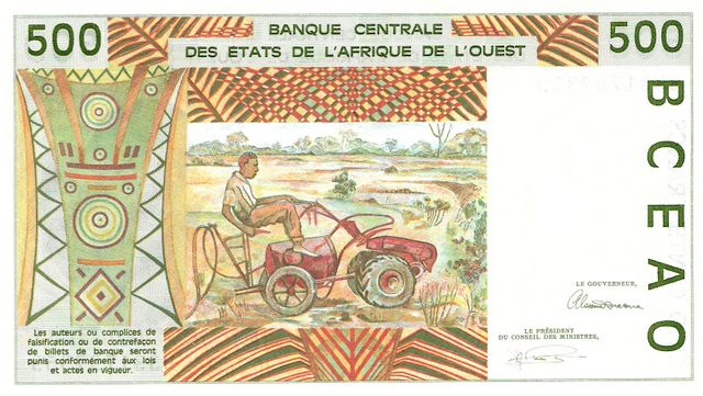 Banque Centrale  500 Francs  West African States. K - Senegal Dimensions: 200 X 100, Type: JPEG