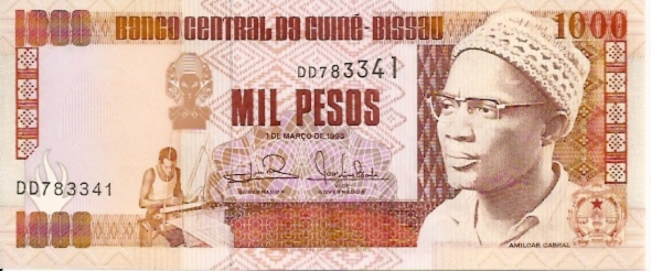 Banque Centrale  500 Francs  West African States. S - Guinea Bissau Dimensions: 200 X 100, Type: JPEG