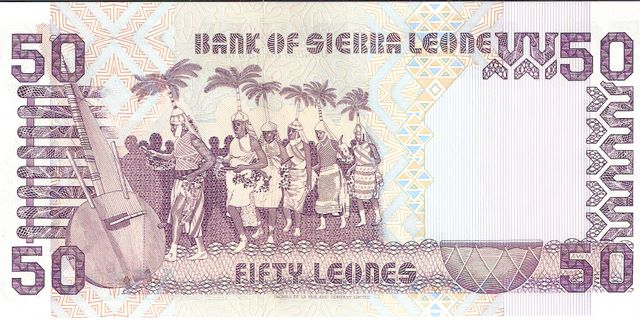 Bank of Sierra Leone  50 Leones  1988-1993 Issue Dimensions: 200 X 100, Type: JPEG