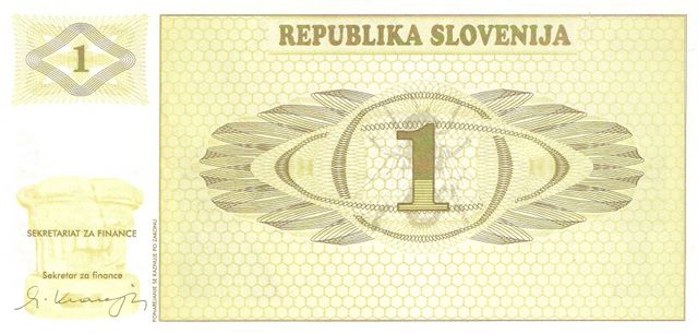 Republika Slovenija  1 Tolarjev  1990-1992 Issue Dimensions: 200 X 100, Type: JPEG