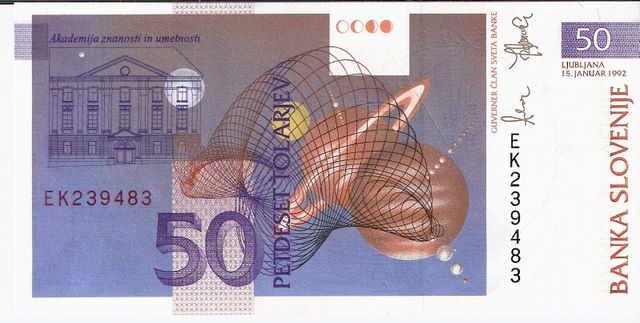 Republic of Slovakia  50 Korun  1993 ND Issue Dimensions: 200 X 100, Type: JPEG