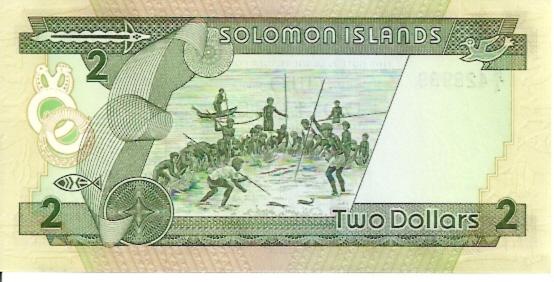 Solomon Island Monetary Authority  2 Dollars  1981 ND Issue Dimensions: 200 X 100, Type: JPEG