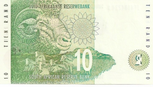 South African Reserve Bank  10 Rand  1992-1994 ND Issue Dimensions: 200 X 100, Type: JPEG