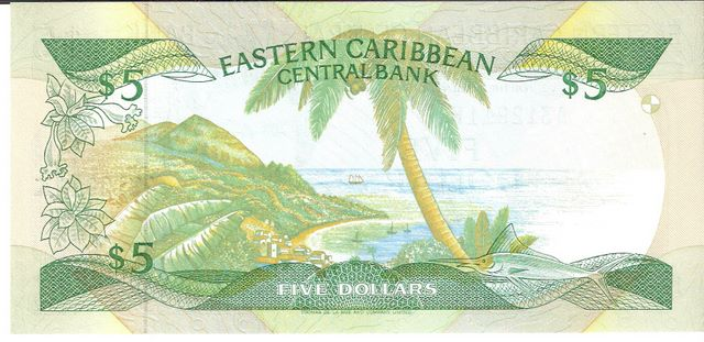 Eastern Caribbean Central Bank  5 Dollars  K - Saint Kitty Dimensions: 200 X 100, Type: JPEG