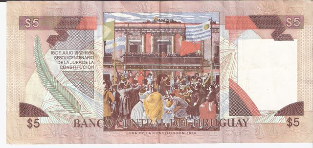 Banco Central DEL Uruguay  5 Peso  1978 - 1988 ND Issue Dimensions: 200 X 100, Type: JPEG
