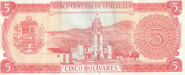 Banco Central DE Venezuela  5 Bolivares  1963-1967 Issue Dimensions: 200 X 100, Type: JPEG