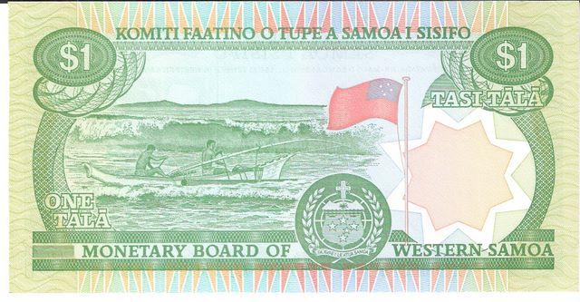 Bank fo Western Samoa  1 Tala  1967 ND Issue Dimensions: 200 X 100, Type: JPEG