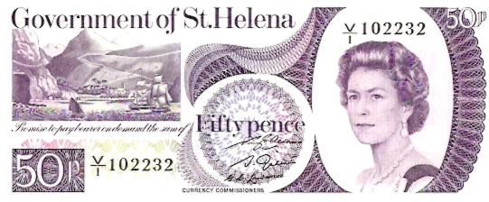 Government of Saint Helena  50 Pence  1976 Issue Dimensions: 200 X 100, Type: JPEG