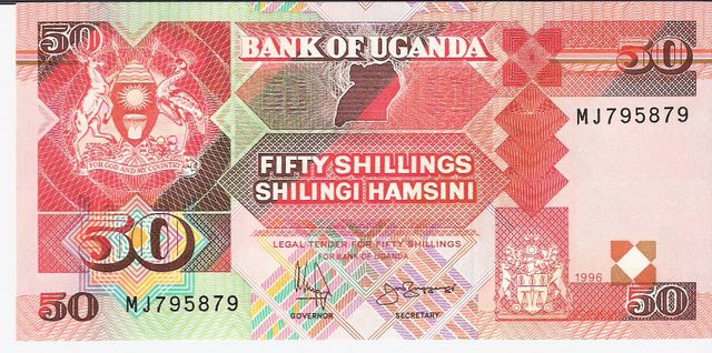 Bank of Uganda  50 Schillings  1987-1995 Issue Dimensions: 200 X 100, Type: JPEG