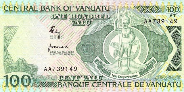 Central Bank of Vanuatu  100 Vatu  1982 ND Issue Dimensions: 200 X 100, Type: JPEG