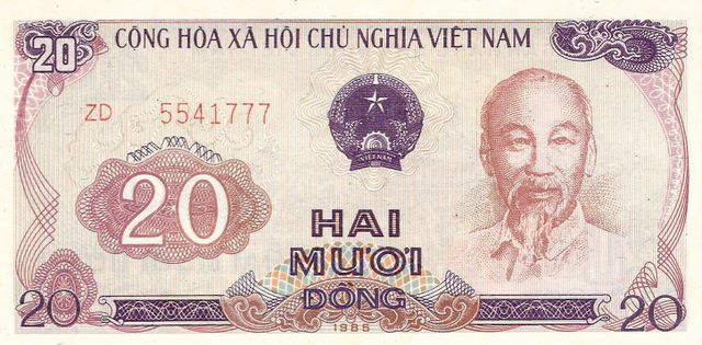 State Bank of Viet Nam  20 Dong  1974 ND Issue Dimensions: 200 X 100, Type: JPEG