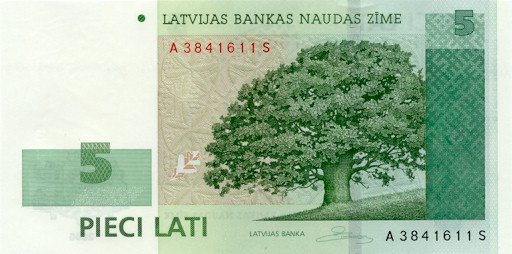 Government of Lativa  5 Lati   No Date Issue  Printed on Hybrid Polymer Dimensions: 200 X 100, Type: JPEG