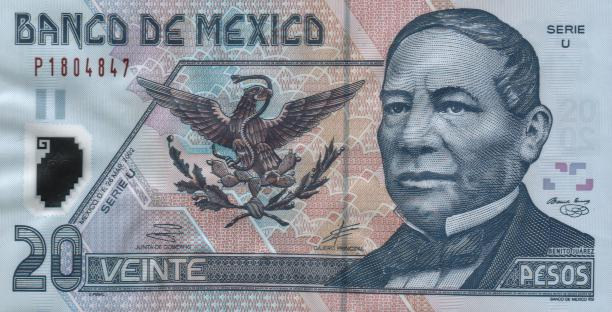 Government of Mexico  20 Pesos    No Date Issue  Printed on Polymer (Plastic) Paper Dimensions: 200 X 100, Type: JPEG