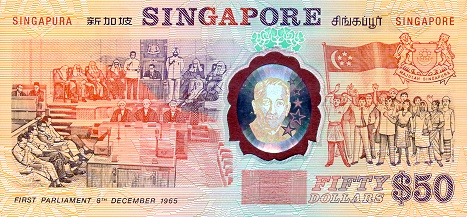 Government of Singapore  50 Dollars    No Date Issue  Printed on Polymer (Plastic) Paper Dimensions: 200 X 100, Type: JPEG