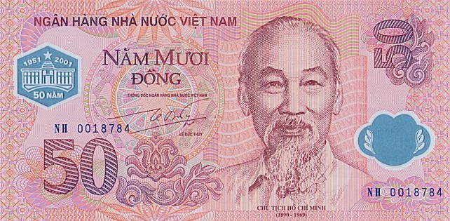 Government of Vietnam  50 Dong    No Date Issue  Printed on Polymer (Plastic) Paper Dimensions: 200 X 100, Type: JPEG